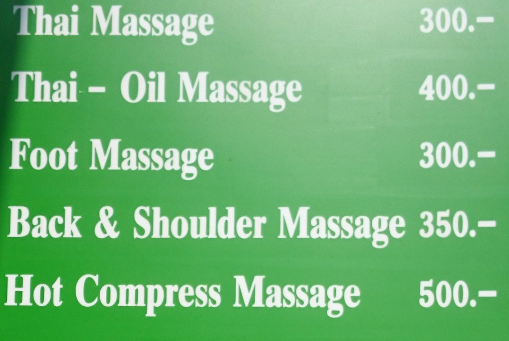 Виды массажа и цены